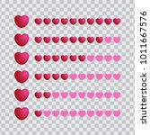 love meter with heart icon... | Shutterstock .eps vector #1011667576