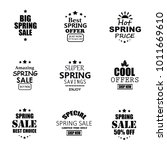 spring sale banners. | Shutterstock .eps vector #1011669610