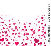 colorful background with heart... | Shutterstock .eps vector #1011672934