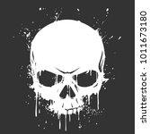 grunge skull paint | Shutterstock .eps vector #1011673180