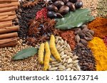 herbs and spices selection.... | Shutterstock . vector #1011673714