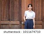 portrait of thai high school...   Shutterstock . vector #1011674710