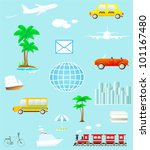 set many colorful isolated... | Shutterstock .eps vector #101167480
