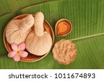 massage pads with powder and... | Shutterstock . vector #1011674893