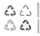 universal recycling symbol flat ... | Shutterstock .eps vector #1011676258