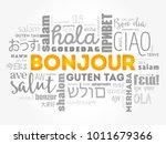 bonjour  hello greeting in...   Shutterstock . vector #1011679366