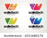 wallet tech logo template...   Shutterstock .eps vector #1011680176