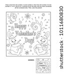 valentine's day themed connect... | Shutterstock .eps vector #1011680830