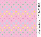 polka dot background. bright... | Shutterstock .eps vector #1011681400