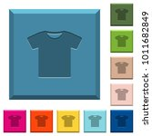 t shirt engraved icons on edged ... | Shutterstock .eps vector #1011682849