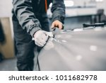 car wrapping specialist putting ...   Shutterstock . vector #1011682978