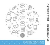collection of communication... | Shutterstock .eps vector #1011685150