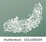 lace flowers decoration element | Shutterstock .eps vector #1011685654