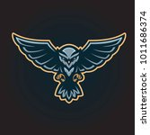flying owl logo mascot   Shutterstock .eps vector #1011686374