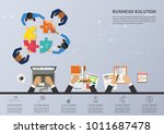 business concept for business... | Shutterstock .eps vector #1011687478