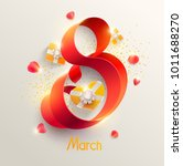 march 8 international women's... | Shutterstock .eps vector #1011688270