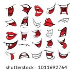 illustration of a set of mouths | Shutterstock .eps vector #1011692764