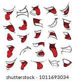 illustration of a set of mouths | Shutterstock .eps vector #1011693034