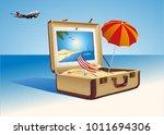 different travel elements... | Shutterstock .eps vector #1011694306