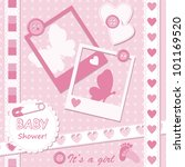 Baby Girl Greeting Card With...