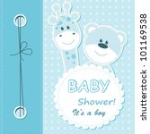 Vector Baby Boy Scrapbook Card...