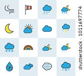 climate icons colored line set... | Shutterstock . vector #1011697774