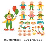 cute clown character creator... | Shutterstock .eps vector #1011707896
