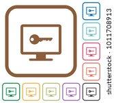secure desktop simple icons in... | Shutterstock .eps vector #1011708913