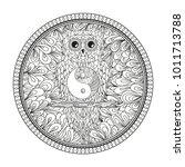 owl on the branch. design... | Shutterstock .eps vector #1011713788