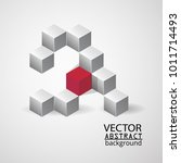 3d background cube geometry ... | Shutterstock .eps vector #1011714493