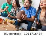 group of friends sport fans... | Shutterstock . vector #1011716434