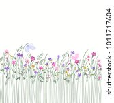 seamless floral border with... | Shutterstock .eps vector #1011717604