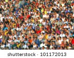 Blurred Crowd Of Spectators At...