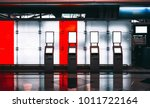 four check in counters in... | Shutterstock . vector #1011722164