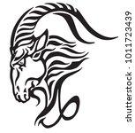 capricorn logo. head of... | Shutterstock .eps vector #1011723439
