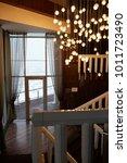 cozy warm interior | Shutterstock . vector #1011723490