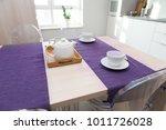 scandinavian kitchen design.... | Shutterstock . vector #1011726028