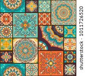 seamless colorful patchwork... | Shutterstock .eps vector #1011726520