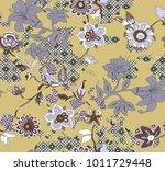 seamless floral design | Shutterstock . vector #1011729448