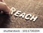 hand arrange wood letters as... | Shutterstock . vector #1011730204