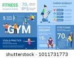 fitness infographics... | Shutterstock .eps vector #1011731773