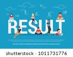 result achievement concept... | Shutterstock .eps vector #1011731776