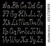 silver 3d letters alphabet.... | Shutterstock . vector #1011733858