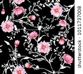 floral seamless pattern... | Shutterstock .eps vector #1011737008