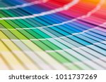 colour swatches book. rainbow... | Shutterstock . vector #1011737269