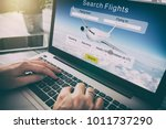 booking flight travel traveler... | Shutterstock . vector #1011737290