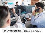business team investment... | Shutterstock . vector #1011737320