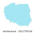 abstract blue map of poland  ...   Shutterstock .eps vector #1011739156