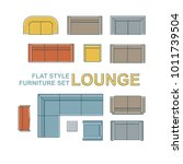 sofas  armchairs  lounges and... | Shutterstock .eps vector #1011739504