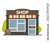 vector shop or market store... | Shutterstock .eps vector #1011741910